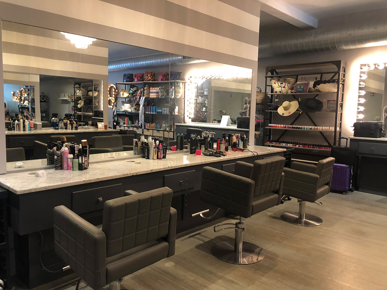 blowhampton hair care and makeup